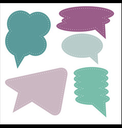 isolated simple speech bubbles vector image