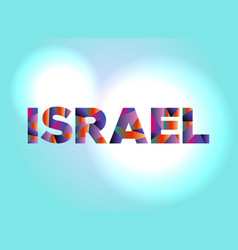 Israel concept colorful word art vector