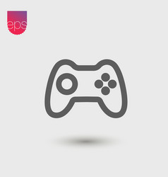 Joystick simple icon emblem isolated on grey vector