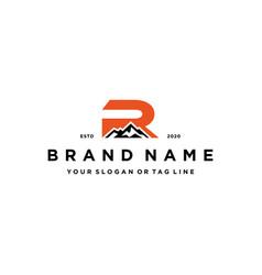 Letter r mountain logo design concept vector