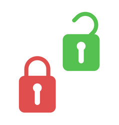 lock and unlock icons open and closed padlock vector image