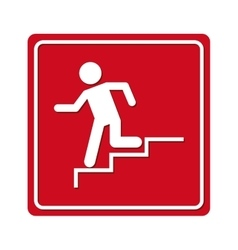 Man running stairs emergency icon vector
