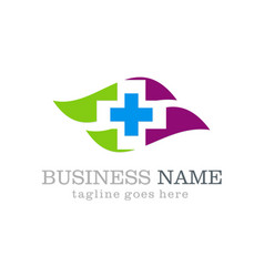 Medical hospital logo design vector