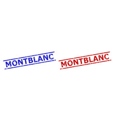 montblanc watermarks with corroded surface and vector image
