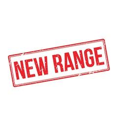 New range red rubber stamp on white vector