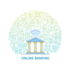 Online banking concept vector