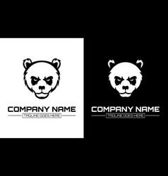 Panda head logo design template modern design vector