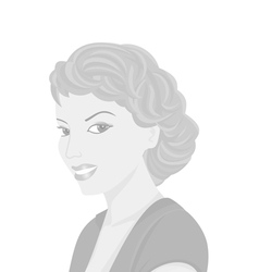 Portrait of young woman in grey colors vector image