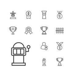 Prize icons vector