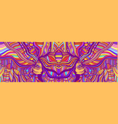 Psychedelic colorful fantasy caleidoscope girls vector
