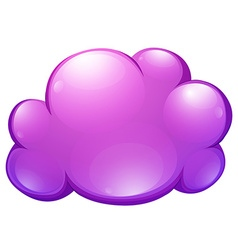 Purple cloud on white vector image