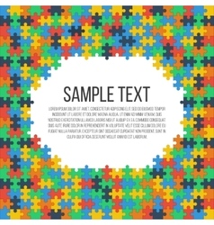 Puzzle frame template vector