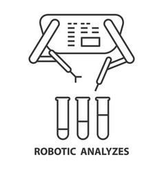 robotic analyzes icon vector image