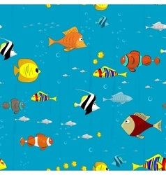 Sea ocean pattern coral fish exotic tropical vector