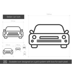 Sedan car line icon vector