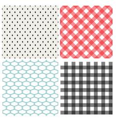 Set classic seamless pattern vector