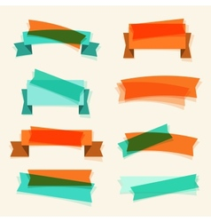 set retro ribbons banners and design elements vector image