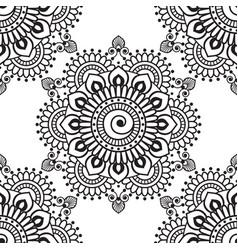 Set seamless indigo patterns in blue for floor vector