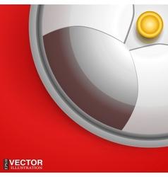 Silver serving dome or Cloche vector