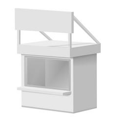 Small kiosk mockup realistic style vector