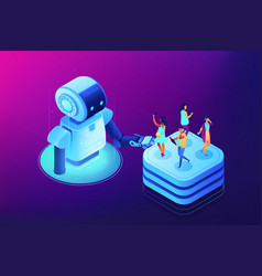 social media automation tools concept vector image