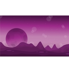 Space desert with planet landscape vector