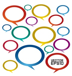 Speech bubbles EPS10 vector image