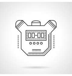 Sport timer flat line design icon vector