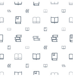 studying icons pattern seamless white background vector image