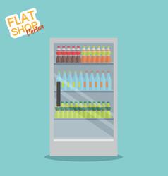 supermarket in flat design vector image