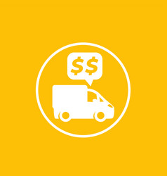 transportation costs payments icon vector image