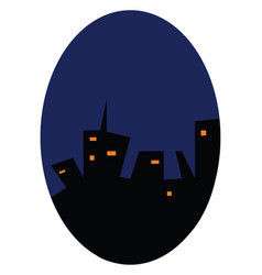urban skyline at night or color vector image