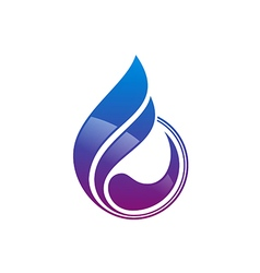 Water drop abstract decorative logo vector