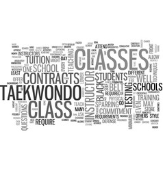 What is taekwondo class got to do with it text vector