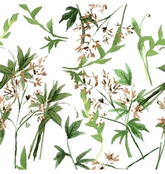 Wild flowers seamless pattern vector