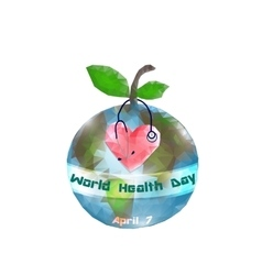World Health Day 7 April Globe Infographics vector image