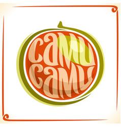 logo for camu camu vector image