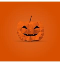 Polygonal halloween pumpkin vector image