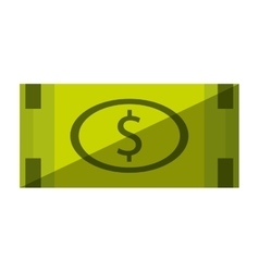bill money dollar isolated icon vector image vector image