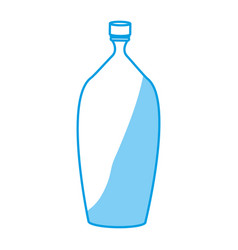 empty plastic bottle vector image