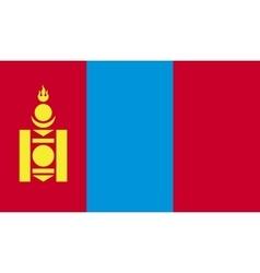 Mongolia flag image vector image vector image