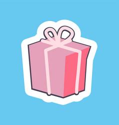 nice pink gift box banner vector image vector image