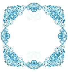 Russian ornaments art frames in gzhel style Gzhel vector image
