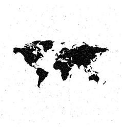 world map letterpress vintage label vector image vector image