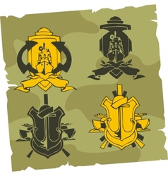 Military Emblem - Set vector image