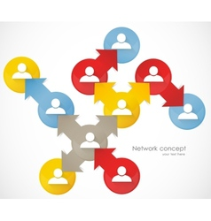 Network concept vector image vector image