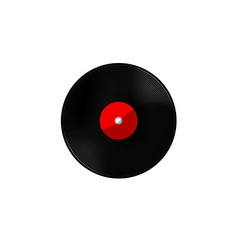 Vinyl red vector image