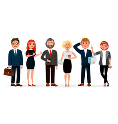business people standing together vector image vector image