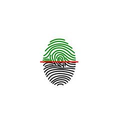 fingerprint on scanner access vector image