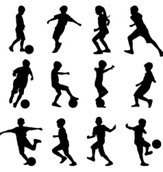 kid playing soccer vector image vector image